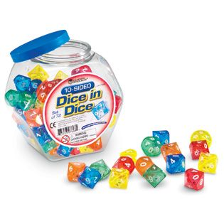 dice inside dice   10-Sided Dice in Dice - Manipulatives - Product Type - Math - Shop by ...