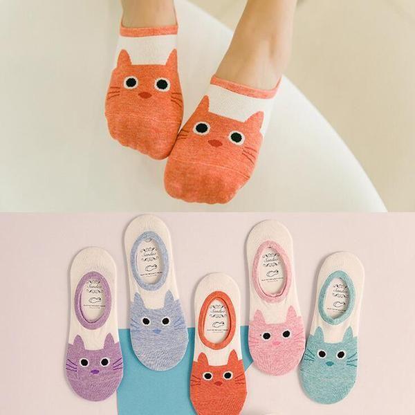 Cute Cat Low Cut Sneaker / Trainer Liner Socks for Women & Kids – Four Paw Pals