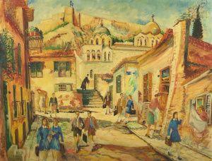Ο Γεώργιος Σαββάκης (1924-2004) γεννήθηκε στου Ψυρρή, αλλά έζησε και εργάστηκε στην Πλάκα μέχρι το θάνατό του. Ξεκίνησε να ζωγραφίζει, ως αυτοδίδακτος, ήδη από τα μαθητικά του χρόνια στο δημοτικό. …