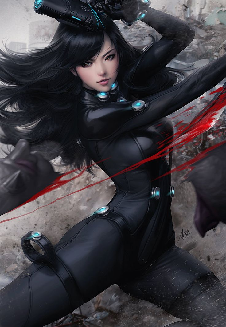 Recently watched Gantz:0 animated movie and it was pretty enjoyable. Therefore a mandatory fanart of the babe Reika. ** I've started posting on Twitter, you can follow me twitter.com/artgerm **