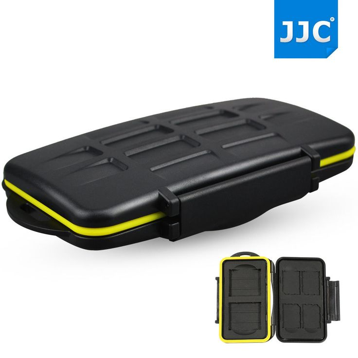 JJC Water-resistant  Holder Storage Memory Card Case For 4 SD Cards & 2 CF Cards #JJC