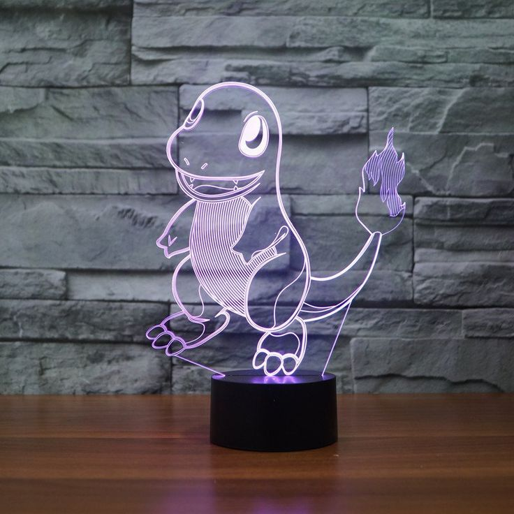 Pokemon Charmander 3d Table Lamp 3d Illusion Lamp Color Changing Led Pokemon Light