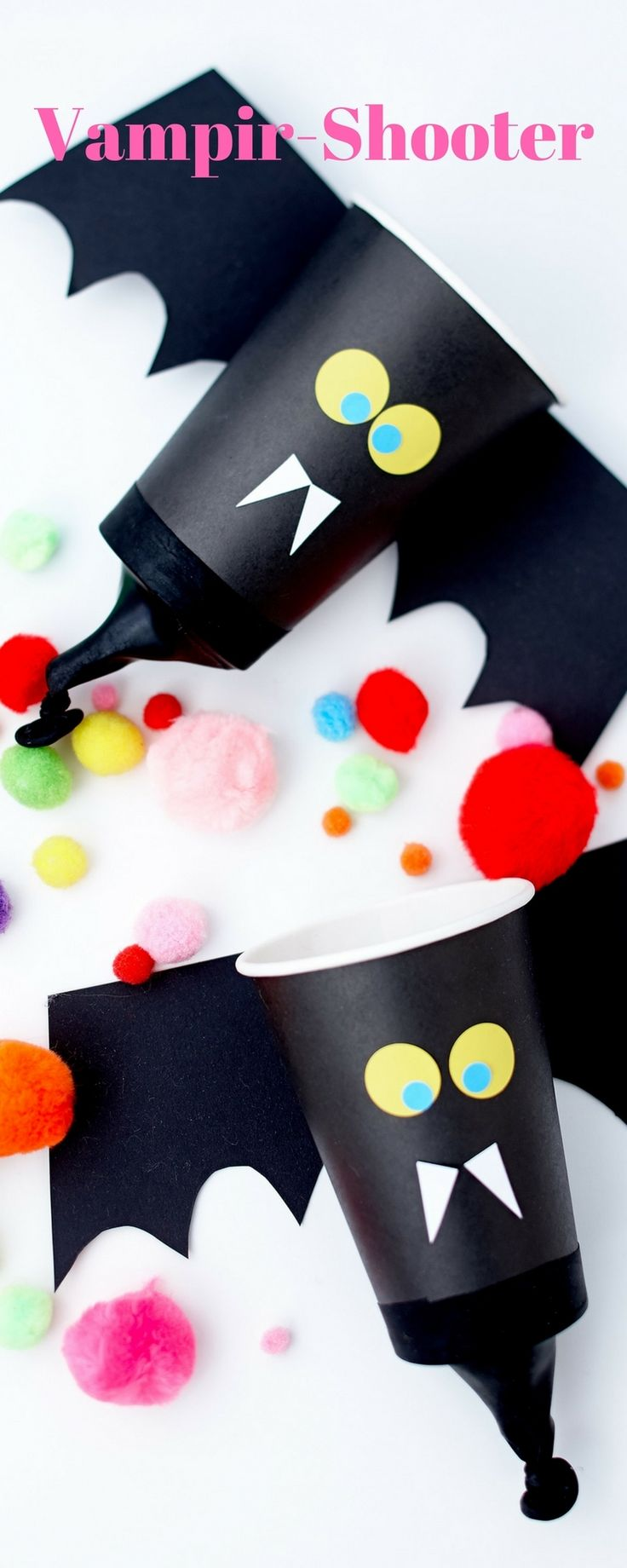 Vampir Shooter aus Pappbechern für Halloween basteln  Wundertütchen