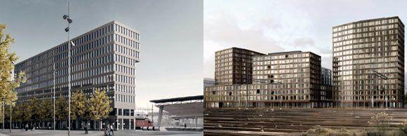 Europaallee Zürich: Zwei weitere Architekturwettbewerbe entschieden. / Visualisierungen: Foto SBB CFF FFS