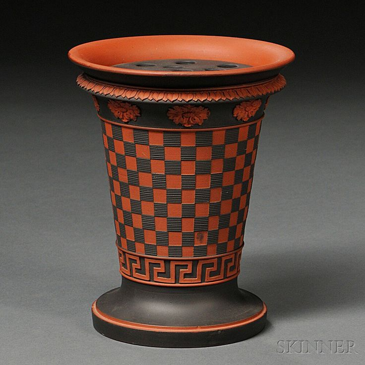Trust Wedgwood to make a potpourri vase I can fall in love with. This Rosso Antico Potpourri Vase may look modern, but it is late 18th Century