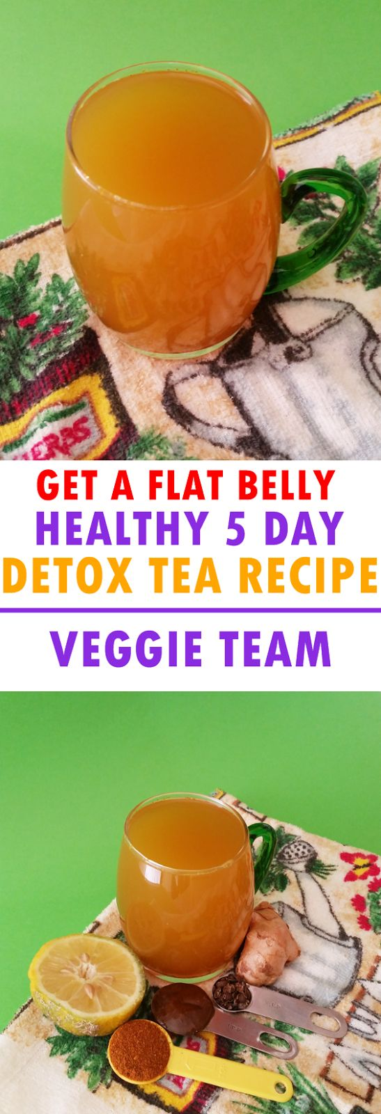 You are about to get a flat belly in only 5 days with this healthy detox tea recipe. Lose up to 3 to 4 inches off your waist and belly...