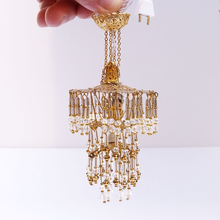 17 Best Images About Dollhouse-Miniatures-Lamp, Chandelier
