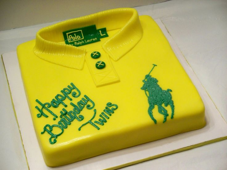 polo shirt cake Party Theme: Ralph Lauren Pinterest ...