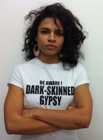 Alina Şerban: a Romani actress and activist.