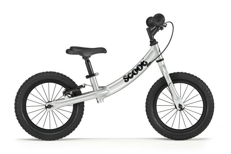 Duży rowerek biegowy Ridgeback Scoot XL srebrny