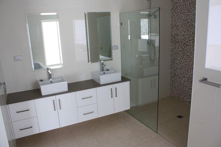 White Bathroom Co Willoughby custom made frameless shower screen
