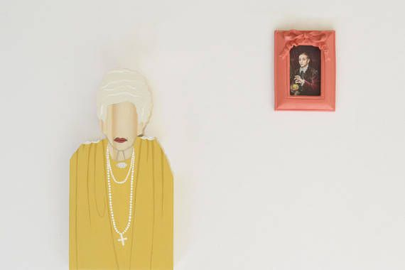 The Grand Budapest Hotel - Madame D Wooden Figurine Shelf Decor Bookcase Decoration Home decor Wes Anderson Movie