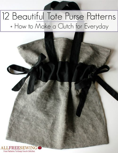 Download your free copy of the 12 Beautiful Tote Purse Patterns Plus How to Make a Clutch for Everyday eBook
