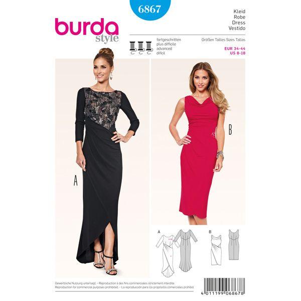 Abendkleid, Burda 6867