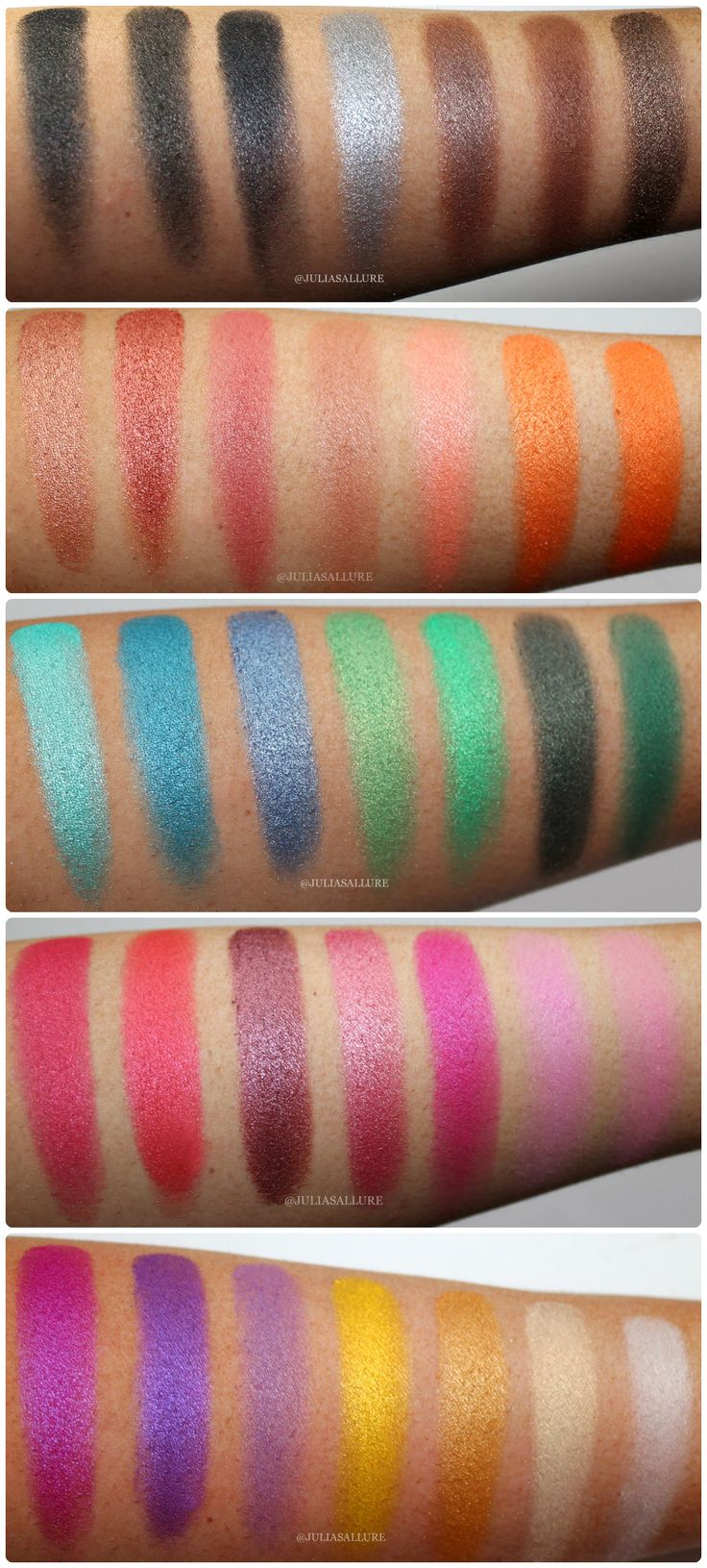 Morphe 35k eyeshadow palette review beauty in bold - Morphe Brushes 35u Multi Color Shimmer Palette Swatches And Review
