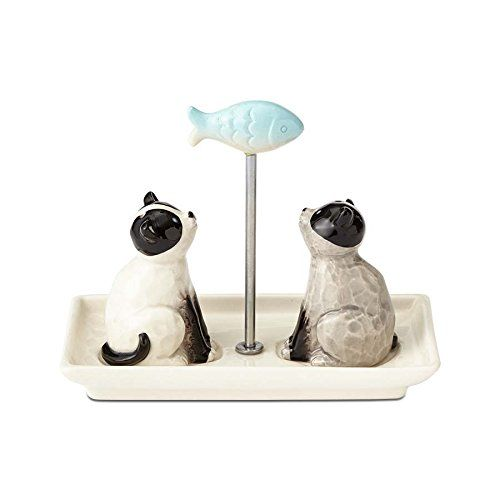 Cats and Fish Salt and Pepper Shakers