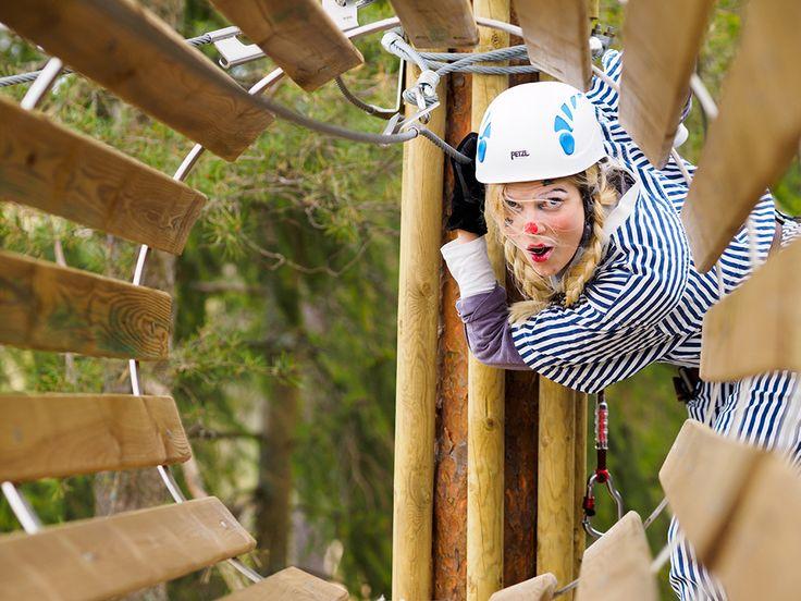 Putkeen menee − pelleilläkin! #seikkailupuisto #treetopadventure #espoo #finland