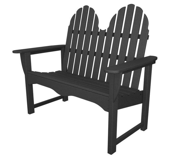 POLYWOOD® Adirondack 48 Bench #adirondack #bench #outdoor #patio #furniture #patiobench #adirondackbench http://www.acepatiofurniture.com/polywood-recycled-plastic-classic-adirondack-bench.html