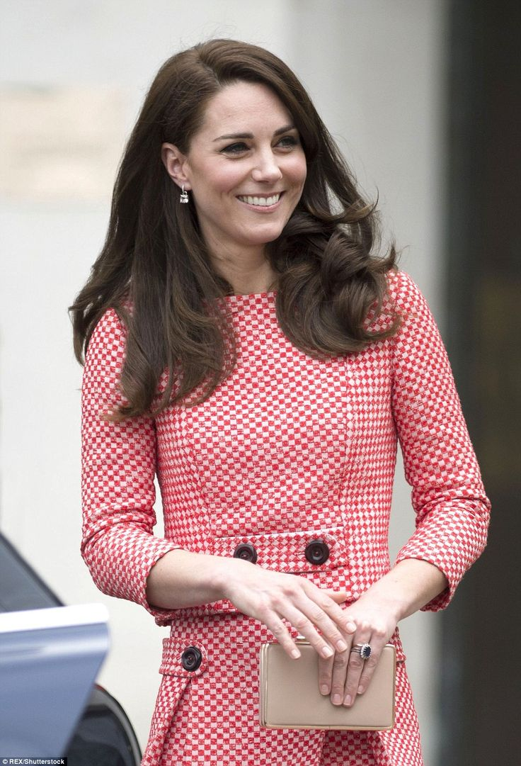 The royal, who wore a pair of square-cut diamond earrings, looked to be in good spirits as...