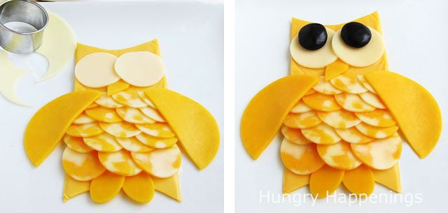 Hungry Happenings: Transform an ordinary cheese tray into an adorable owl this Halloween.