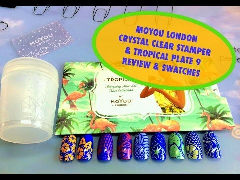 MOYOU London Crystal Clear Stamper & Tropical 9-Review & Swatches - YouTube