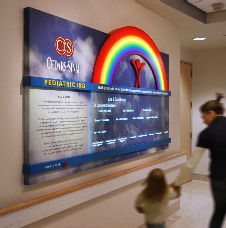 Donor wall, Cedars-Sinai Medical Center.