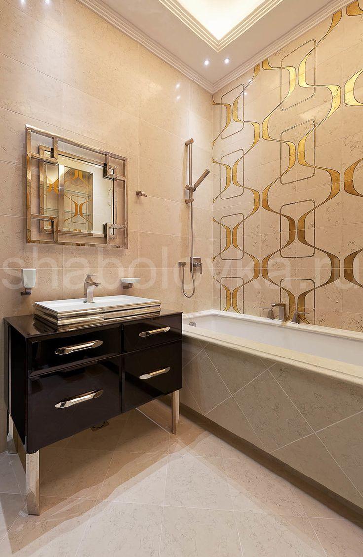 Квартира в стиле ар-деко - ванная
