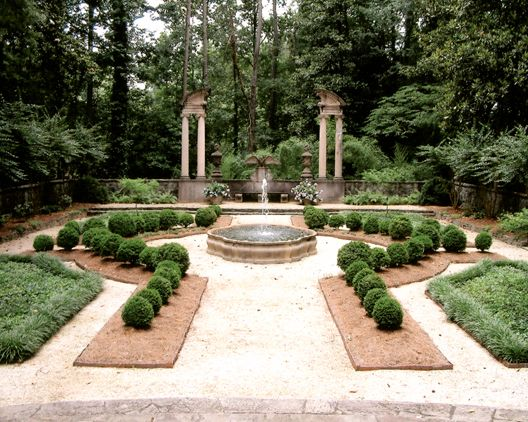 This Century Inspired Formal Garden Featuring Neatly Manicured Boxwoods  Sits On The Grounds Of The Historic Swan House In Atlanta, Georgia, ...