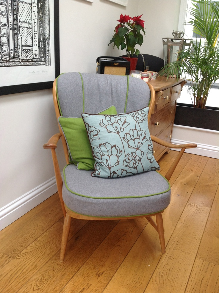 Re-covered Ercol chair