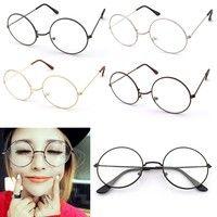 Wish | Vintage Round Glasses Men Harry Potter Glasses Frame Retro Luxury Eyewear Clear Glasses Women Optical Frame