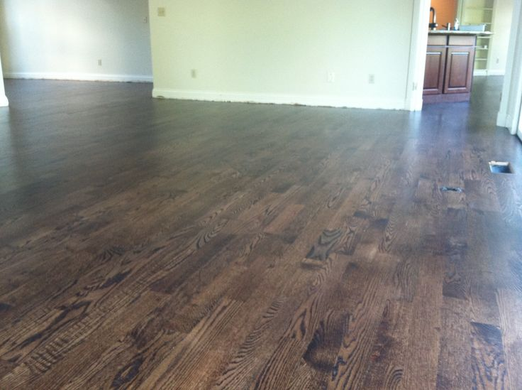 Dark walnut stained red oak hardwood flooring for Hardwood floors popping
