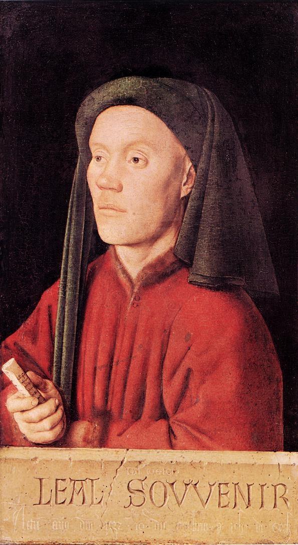 Jan van Eyck (1395-1441) - Portrait of a Young Man (Tymotheos) - 1432.  National Gallery, London.