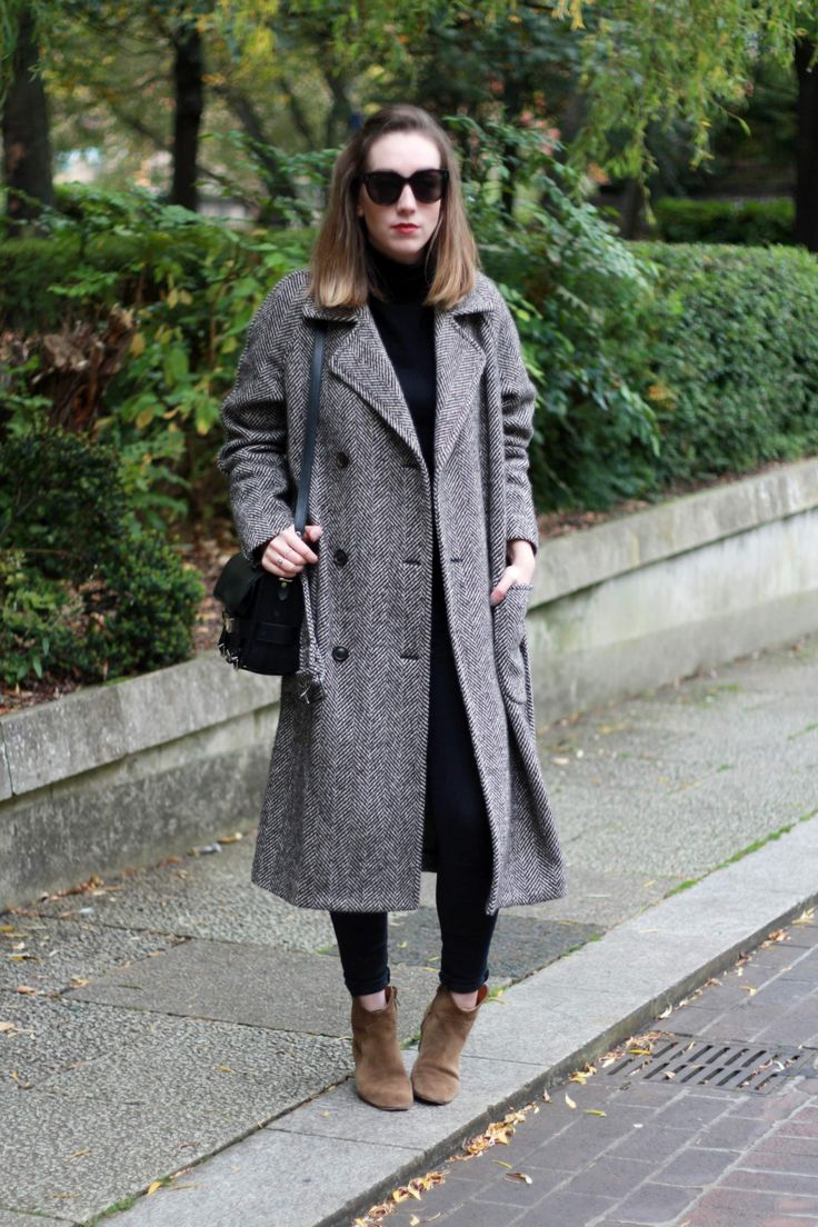 The Herringbone Coat - The Lovecats Inc - autumn fall winter street style - see by chloe - minimal