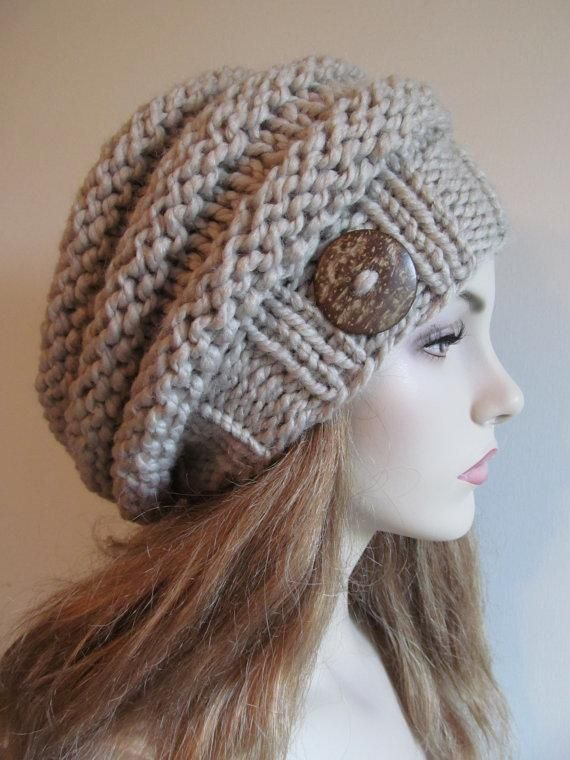 Bulky Slouch Beanie Beret Beehive Hat Slouch Beanie