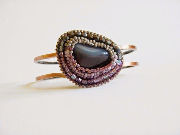 Bracelet with agate botswana