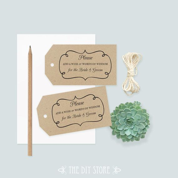 Wedding Gift Log Template : Wedding Tag Template, LARGE Tag, Swirly Frame, Gift Tag, Well Wishing ...