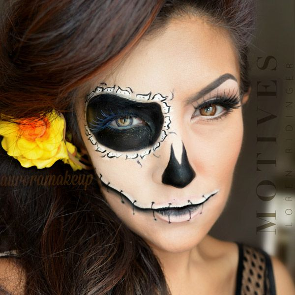 this day of the dead halloween inspired look is to die for intricately painted details define this exotic yet fun makeup number - Fun Makeup Ideas For Halloween