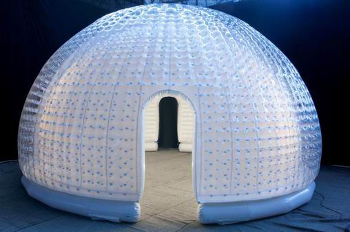 cheap transparent double layer inflatable dome tent for outdoor activity for sale-inflatables supplier