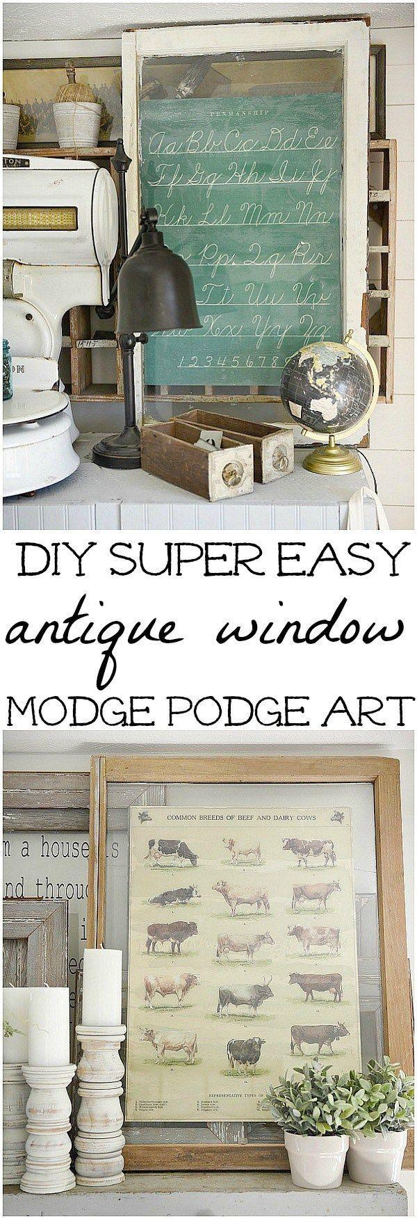 DIY Antique Window Art 338 best Old