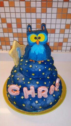 Chris first birthday cake