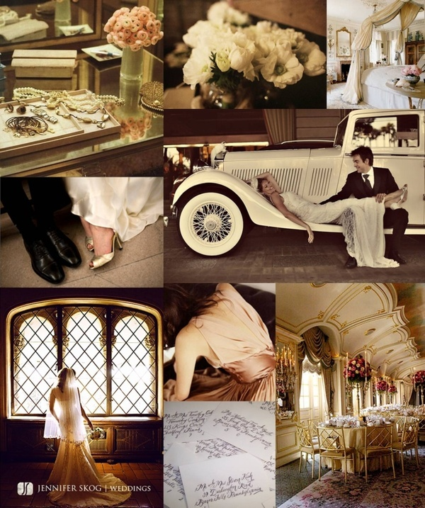 vintage hollywood wedding-- love the shot on the Rolls Royce!