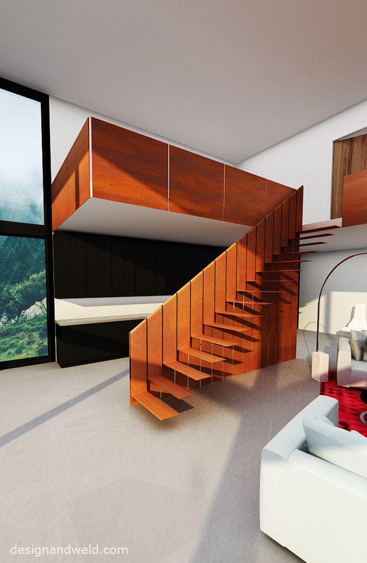 Best Unique Cor Ten Steel Stairs C By Www Designandweld Com 400 x 300