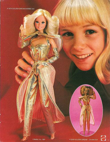 Golden Dreams Barbie...another great one from the 80s...remember the copper wire in her hair??