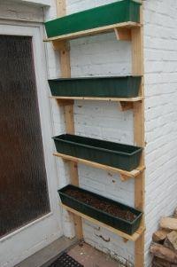 Pallet shelves for vertical garden (easy)