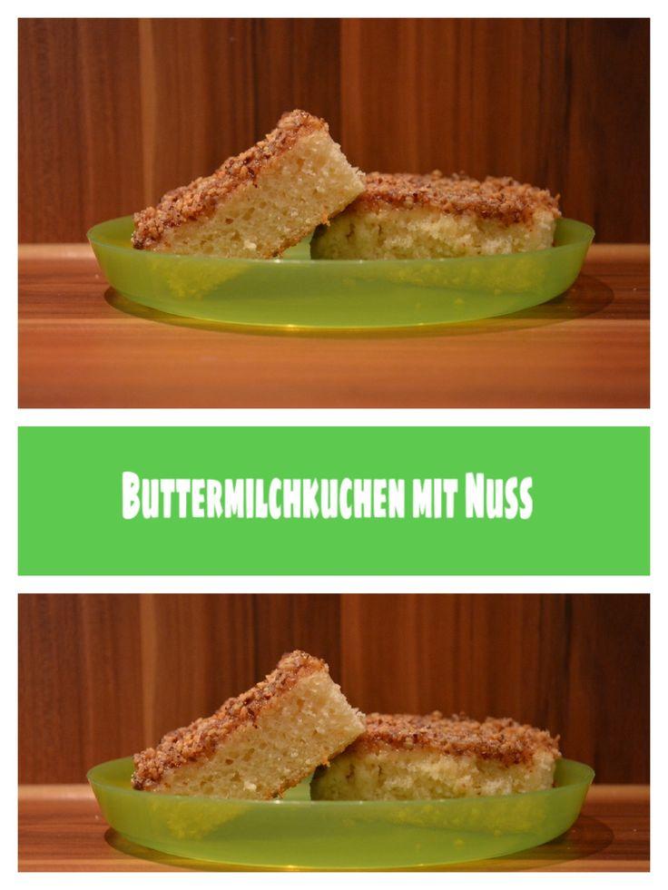 Buttermilchkuchen mit Nuss, Food, backen, lecker essen, Kuchen, Thermomix