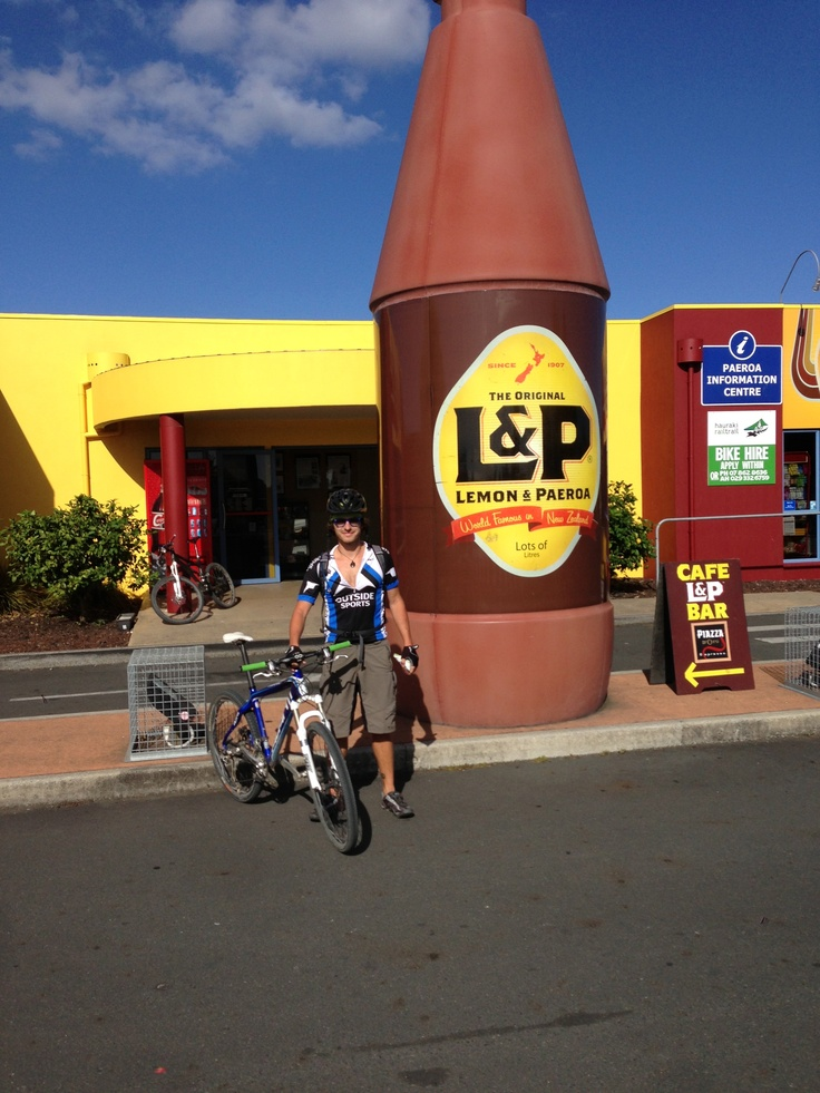 You kind of have to stop in Paeroa and get a drink of Lemon and Paeroa when riding the Hauraki Rail Trail