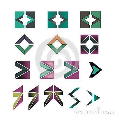Set of #different #arrow #symbols or #logos