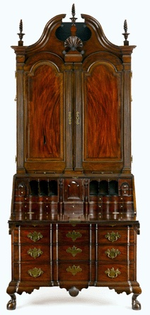 Blocked desk-and-bookcase, circa 1775, at the Metropolitan Museum of Art in New York City is Gould's only signed piece.
