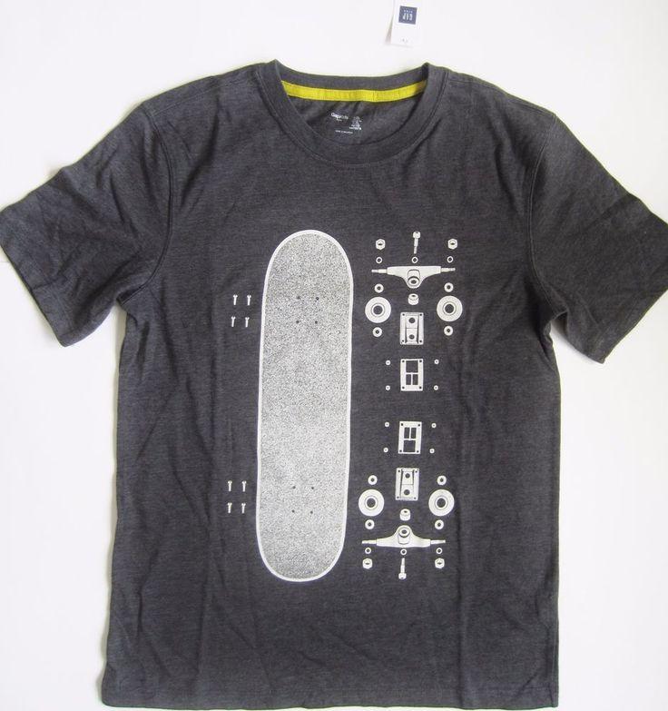 NWT Gap Kids Boys Graphic T Shirt Skateboard Parts Gray Sizes XS S XL 2XL  #GapKids #Everyday