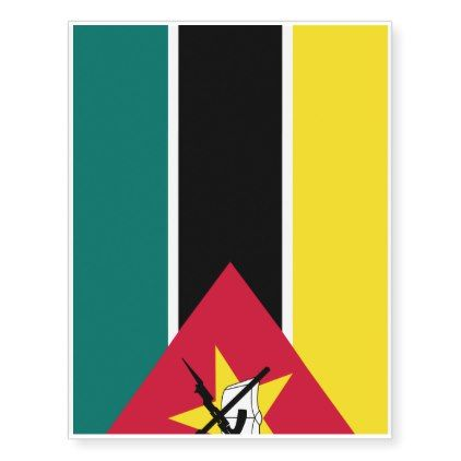 Mozambique Flag Temporary Tattoos - home gifts cool custom diy cyo
